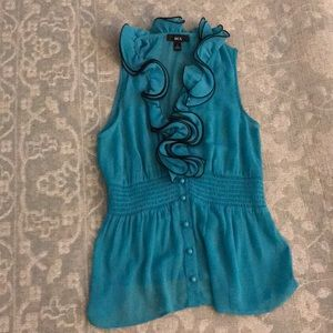 Turquoise blue top